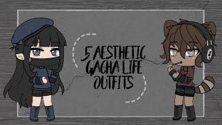 aesthetic gacha life outfits | 3 girls & 2 boys