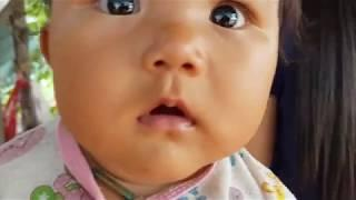 Cute 3 month born daughter   cute baby photos with a smile