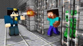 Monster's Prison : Police vs Monster School Prison Escape - JailBreak Minecraft Animation