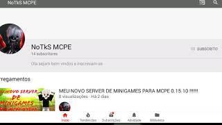 MEU NOVO SERVER DE MCPE 0.15.10, COM TheBride SkyWars ...