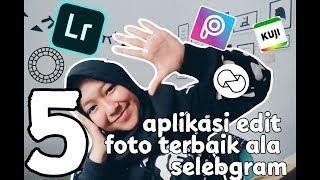 5 aplikasi edit foto terbaik ala selebgram | aplikasi wajib untuk Instagramers ||