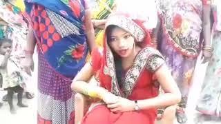 Indian girl beating a boy