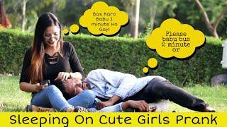 Sleeping On Cute Girls Prank | Prank Star
