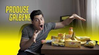 Am mâncat doar produse în ambalaj galben timp de 1 zi!