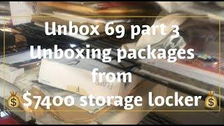$7400 storage locker packages UNBOXING ???? 69 massive vintage black & white photo collection