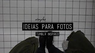 Ideias simples para fotos | Inspiração Tumblr ( Dark / Pale Grunge )
