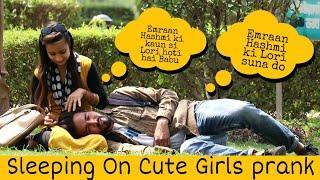 Sleeping On Cute Girls Prank Part -2 | Prank Star