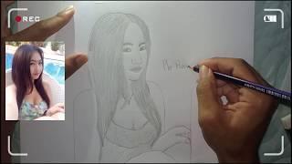 how to drawing #5 photo cute girl hd good [ Creative & Drawing ]