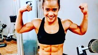 Super muscular 13 years old Gymnast girl Christal