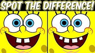 Spot the difference - Spongebob Squarepants | Memory games for kids | Photo puzzle brain games