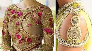 Amazing Blouse Back Neck Design Images / Photos Collection | New Stylish Blouse Neck Design Pictures