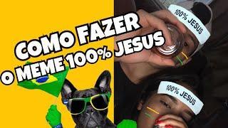 COMO FAZER O MEME 100% JESUS/HEXA PELO CELULAR | FAIXA DO NEYMAR  #CopaDoMundo