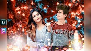 romantic boy & girl photo editing 2019 | Bulbs & Bokeh effect photo editing | Lightroom soft colour