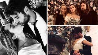 Miley Cyrus and Liam Hemsworth Wedding Photos Collection - 2019