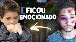 FINGI ESTAR APANHANDO DA MINHA MÃE E ELE SE EMOCIONOU - Minecraft