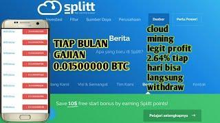 Cara deposit dan withdraw di splitt cloud mining