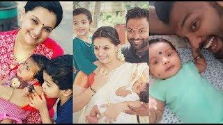Saranya Mohan Latest Cute Lovely Family Photos With New Born Baby