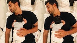 Neha Dhupia's Baby girl Mehr Bedi Looks so cute with daddy Angad Bedi