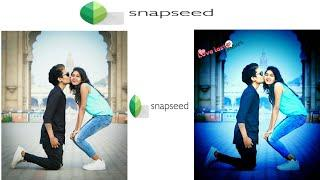 Snapseed cool trick||snapseed colour effect||boy and girl kiss warmth colour Editing android phone