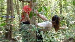 Don't trust Man alone help girl fix motor in forest comedy UTube Film