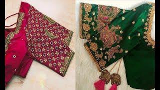 Very Beautiful Embroidery Work Blouse Designs Wedding Season Collection   Aari Work   Maggam Work