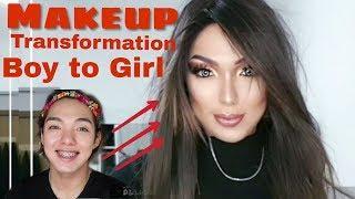 Boy to Girl  3 (Makeup Transformation)