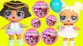 Flower Child Gets New Big Party Favor Balls, Brother LOL Surprise Dolls Boy + Custom Lil Punk Boi