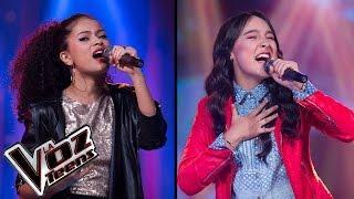 Laura canta 'Si te molesta' y María José canta 'La foto de los dos' | Súper Batallas | La Voz Teens