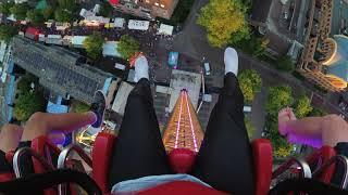 Mine Tower Onride 's avonds, Kermis Best, 1 7 2018