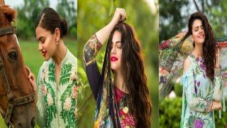 Zara Noor Abbas Latest Photo shoot for Eid Collection
