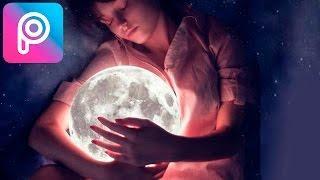 Todos deberian Editar una Foto Asi |PicsArt Tutorial - Dormir con la Luna