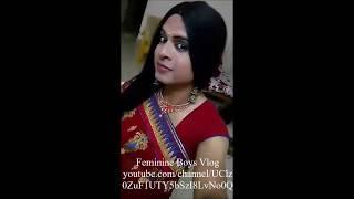 Indian Crossdresser Wearing Saree 1 | Boy To Girl Transformation | Feminine Boys Vlog
