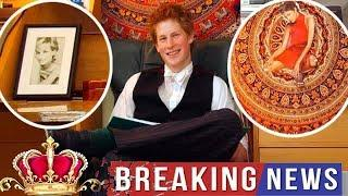 Take a look inside Prince Harry's university dorm as Halle Berry spots a picture of herself in his E