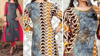 Daily Wear Cotton Kurta design collection 2018 || Latest kurti design images / photo