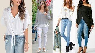 Latest Jeans Top Ideas For Girls Images / Photos Collection | New Fancy Top Design Pictures