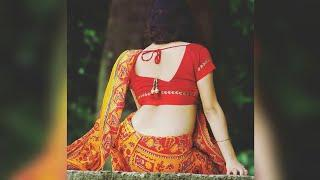 Beautiful Women's Backside Saree Poses | Backpack Saree Poses Photography | Back Neck Blouse Design