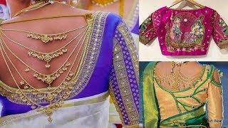 Bridal Blouses - Beautiful Designer Back Neck Blouse Designs