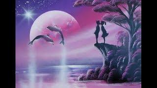 Spray paint art - Boy, girl & dolphins *time lapse* - made by street artist