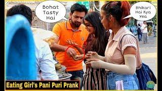 EATING GIRL'S PANI PURI PRANK - EPIC REACTIONS - PRANK IN  INDIA| By TCI