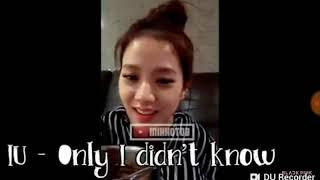 """Jisoo covers IU's song """"The story only I dont know"""""""
