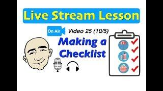 Mark Kulek Live Stream - 25 | Checklist - Do you have...? | English For Communication - ESL