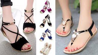 Regular / Daily Wear Flat Sandal Design Images / Photos Collection | New Fashion Flat Sandals