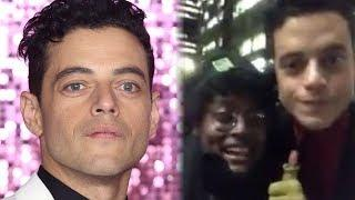 Rami Malek RESPONDS to Awkward Viral Fan Video