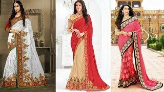 New Stylish Heavy Saree Design ll for Woman lady ll Beautiful Design ll Photo Collection Images Desi