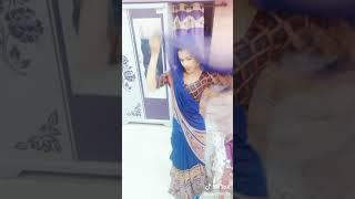 Boy looks really awesome in blue saree and dance like a girl