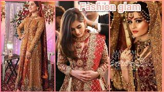 beautiful minal khan stylish dresses collection 2018/minal khan latest bridal photo shoot