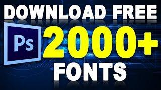 How to 2000+ Fonts For Free Download