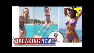 David de Gea's girlfriend Edurne nearly POPS OUT of bikini in jaw-dropping slow-mo video | by Top N