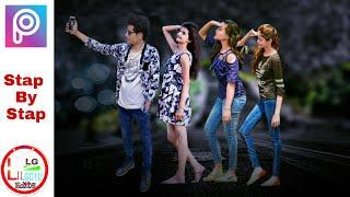 Selfie With Girls   Cb Touch    Selfie Trend 2018 Latest Photo Editing In PicsArt By Lilgolu