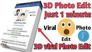 3D Photo Editing ∥ viral Photo Edit in just 1 minute || Create a 3D photo